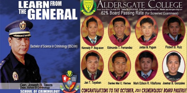 Criminology Board Passers 2011