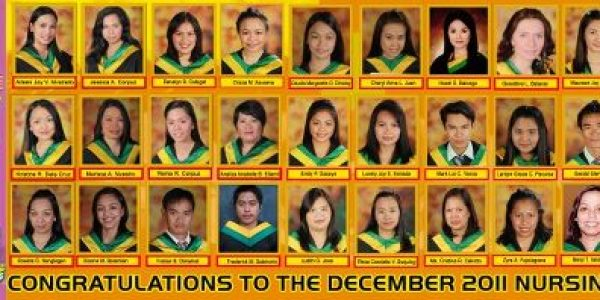 December 2011 Nursing Board Passers