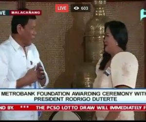 TUNED IN. Dr. Katherine Faith M. Bustos shares her moment of triumph with President Rodrigo R. Duterte in social media. Waves of admiration seized the internet and on various live streams and social sites as it was seen on PTV 4. (contributed photo)